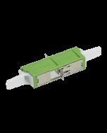 E2000™ APC Simplex Adapter Keramik mit Flansch, grün, Klasse C