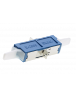 E2000™ PC Simplex Adapter ceramic with flange, blue/blue, class C (L-R30960)