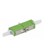 E2000™ APC Simplex Adapter ceramic with flange, green, class C (L-R30962)