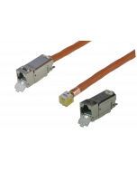 tBL® - TP Installation Cable both ends 1x RJ45 Keystone Modules w. LID (one enclosed) Cat.6<sub>A</sub> UC900 SS23