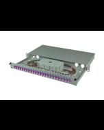 tBL® - FO Splice box 19'' 1U MM 24x LC Duplex OM4, splice ready prepared