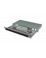 tBL® - LWL Spleißbox 19'' 1HE MM 24x SC Duplex OM4, spleißfertig vorbereitet