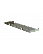 """tBL® - Breakout Panel 19""""/0.5U straight blank w/o cover for 4x RJ45 DC 6fold 10GbE"""