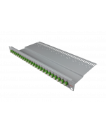 "tBL® - LWL Breakoutpanel 19"" 1HE 24x LC Duplex Adapter, grün APC"