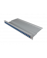 tBL® - LWL Breakoutpanel 19'' 1HE 24x LC Duplex Adapter, blau
