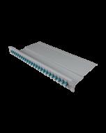 "tBL® - FO breakout panel 19"" 1U 24x LC Duplex Adapter, aqua"