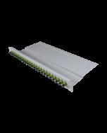 """tBL® - FO breakout panel 19"""" 1U 24x SC Simplex Adapter, green APC"""