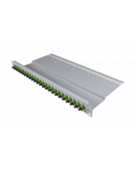 "tBL® - LWL Breakoutpanel 19"" 1HE 24x SC Simplex Adapter, grün APC"