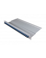 "tBL® - LWL Breakoutpanel 19"" 1HE 24x SC Simplex Adapter, blau"