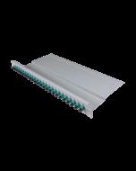 """tBL® - FO breakout panel 19"""" 1U 24x SC Simplex Adapter, aqua"""