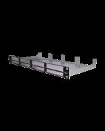 """tML® - Modulträger 19""""/1HE Frontplatte schwarz m. Mittelsteg f. 8 x Module"""
