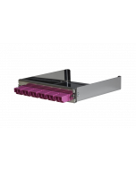 tML® - partial front panel with 6x LC Duplex OM4 magenta for Rack Mount Enclosure 1U extendable