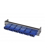 tML® - partial front panel with 6x LC Duplex OS2 blue for Rack Mount Enclosure 1U