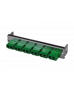tML® - partial front panel with 6x LC APC Duplex OS2 green for Rack Mount Enclosure 1U