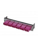 tML® - partial front panel with 6x LC Duplex OM4 magenta for Rack Mount Enclosure 1U