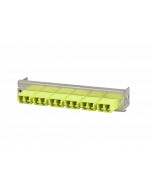 tML® - partial front panel with 6x LC Duplex w. shutter OM5 limegreen for Rack Mount Enclosure 1U