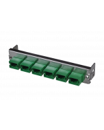tML® - partial front plate with 6x MPO/MTP® Type A (Key Up/Down) OS2 green for the Rack Mount Enclosure 1U