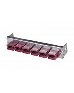 tML® - partial front plate with 6x MPO/MTP® Type A (Key Up/Down) OM4 magenta for the Rack Mount Enclosure 1U