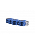 tML® - HD LWL Teilfrontplatte mit 12x LC Duplex OS2 Blau für Modulträger 1HE