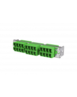 tML® - HD FO partial front panel with 12x LC Duplex OS2 green for Rack Mount Enclosure 1U
