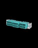 tML® - HD LWL Teilfrontplatte mit 12x LC Duplex OM3 Aqua für Modulträger 1HE