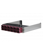 tML® - partial front plate with 12x MPO/MTP® Type A (Key Up/Down) OM4 Magenta for the Rack Mount Enclosure 1U extendable