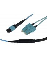 tML® - FO Fan-out Cable MPO/MTP® with Pins/6x SC Duplex 12G50/125µ OM3 LSOH, Length: xx