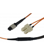 tML® - FO Fan-out Cable MPO/MTP® with Pins/6x SC Duplex 12G62,5/125µ OM1 LSOH, Length: xx