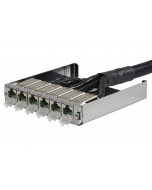 tML® - TP Trunk Cable both ends RJ45 DC 6fold Module (one enclosed) Cat.6<sub>A</sub> UC Future 24x2xAWG26 LSHF for Rack Mount Enclosure 1U extendable