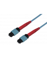 tML® 24 - FO Micro Distribution Trunk Cable both sides 1x 24F MPO w. Pins 24G50/125µ OM3 LSHF, Type A, Length: xx in m