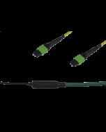 tML® Xtended - LWL Trunkkabel beids. 1x MPO/MTP® m. Pins 12E9/125µ OS2 LSHF, Typ B, Länge: xx in m