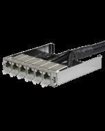 tML® - TP Trunkkabel beids. RJ45 DC 6er Modul m. LID (eins. beigelegt) Cat.6<sub>A</sub> UC Future 24x2xAWG26 LSHF für Modulträger 1HE ausziehbar