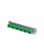 tSML - FO partial front plate Snap-In with 6x MPO/MTP® Key Up/Down OM3 green for tSML Module 0.5U