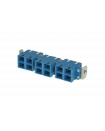 tSML - FO partial front panel Snap-In with 6x SC Duplex OS2 blue for tSML Module 0.5U