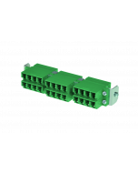 tSML - HD FO partial front panel Snap-In with 12x LC Duplex OS2 green for tSML Module 0.5U