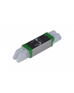 E2000™ Compact  APC Adapter, metal/green-green, Ceramic SM, C, Snap-In