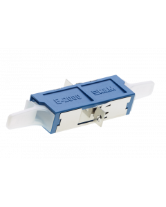 E2000™ PC Simplex Adapter ceramic with flange, blue/blue, class C (L-R30960)