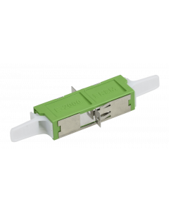 E2000™ APC Simplex Adapter ceramic with flange, green, class C (L-R30962)