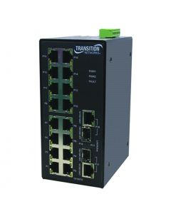 IND MGD SWITCH(16)10/100Base-TX + (2) SFP COMBO PORTS – ATEX