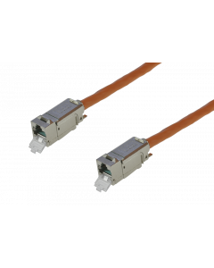 tBL® - TP Installation Cable both ends 1x RJ45 Keystone Modules Cat.6<sub>A</sub> UC900 SS23