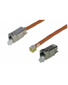 tBL® - TP Installation Cable both ends 1x RJ45 Keystone Modules (one enclosed) Cat.6<sub>A</sub> UC900 SS23