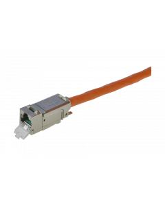 tBL® - TP Installation Cable both ends 2x RJ45 Keystone Modules Cat.6<sub>A</sub> UC900 SS23 duplex