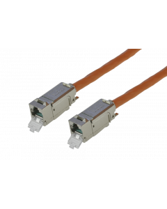 tBL® - TP Installation Cable both ends 2x RJ45 Keystone Modules (one enclosed) Cat.6<sub>A</sub> UC900 SS23 duplex