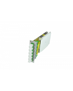 tBG2 - LWL Premium Spleißmodul 6x E2000 Compact MM 3HE/7TE mit Pigtails 50/125µ OM4