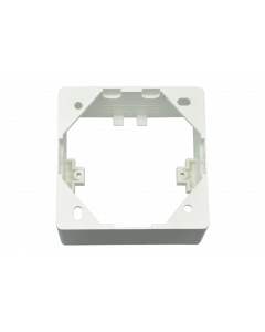 tBL® - surface frame empty for wall outlet, 80 x 42 x 80 mm RAL9010