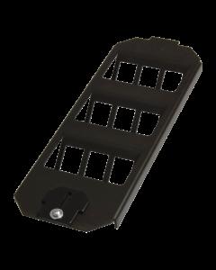tBL® - Floor box frame for 9x RJ45 Keystone modules for Ackermann GES9