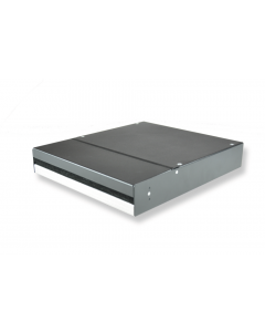 """tBL® - Consolidationpoint-Housing for 10"""", without front panel, grey"""