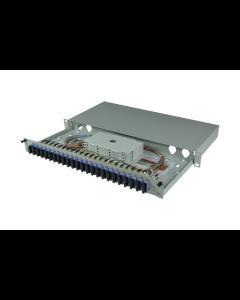 tBL® - FO Splice box 19'' 1U SM 12x SC Duplex OS2, splice ready prepared
