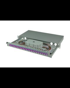 tBL® - LWL Spleißbox 19'' 1HE MM 24x LC Duplex OM4, spleißfertig vorbereitet