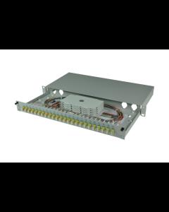 tBL® - LWL Spleißbox 19'' 1HE MM 24x LC Duplex OM2, spleißfertig vorbereitet